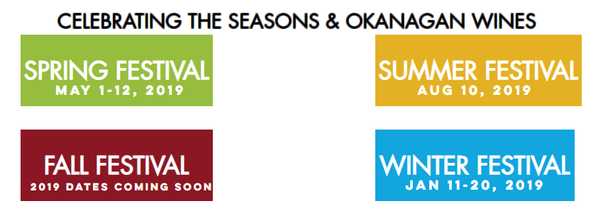 Okangan Wines Festival Dates & Events