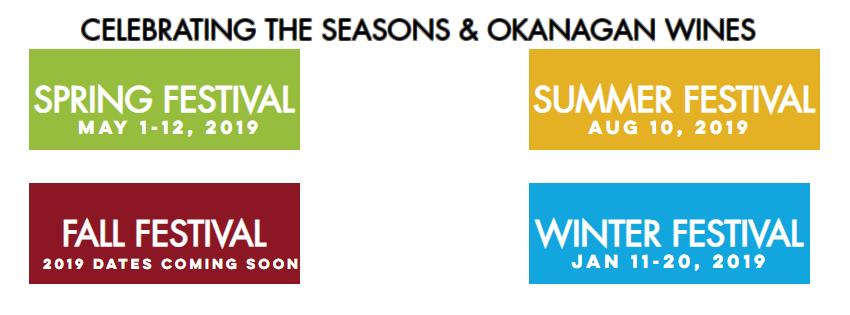 Okangan Wines Festival Dates & Events